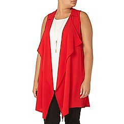 Evans - Red sleeveless jacket