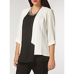 Evans - Ivory soft panel jacket
