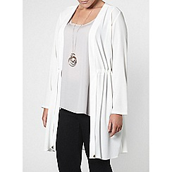 Evans - Ivory tie trench jacket