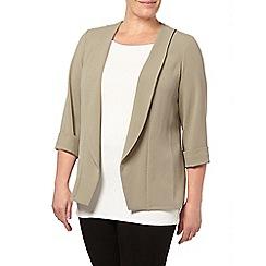 Evans - Khaki crepe jacket