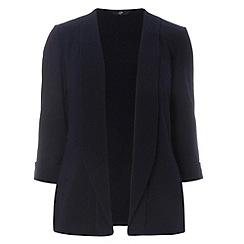 Evans - Navy crepe jacket