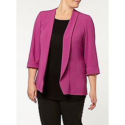 Evans - Purple crepe jacket