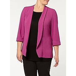 Evans - Purple crepe jacket