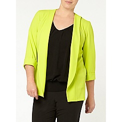 Evans - Lime crepe jacket