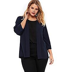 Evans - Navy blue soft panel jacket