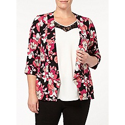 Evans - Pink and black print jacket