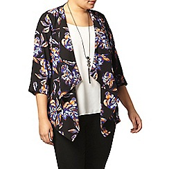 Evans - Flower print 3/4 sleeve jacket