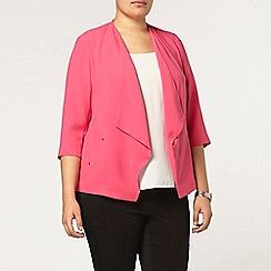 Evans - Pink stud trim jacket