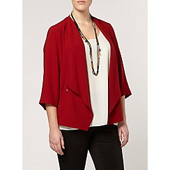 Evans - Red stud pocket jacket
