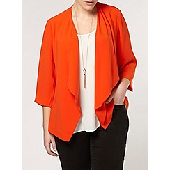 Evans - Orange waterfall jacket