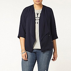 Evans - Navy waterfall jacket