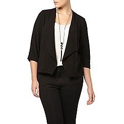 Evans - Black crepe jacket