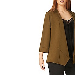 Evans - Khaki green soft waterfall jacket