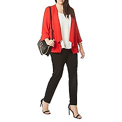 Evans - Red soft waterfall jacket