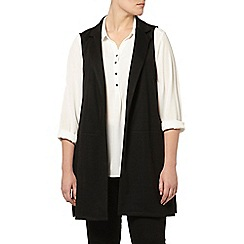 Evans - Black jersey sleeveless jacket