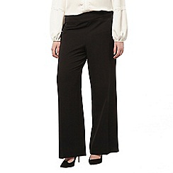 Evans - Black picasso wide leg trouser