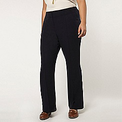Evans - Long navy bootcut trousers
