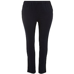 Evans - Black pear fit bootcut trousers