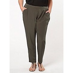 Evans - Khaki tapered trousers
