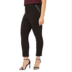 Evans - Black textured slim fit trousers