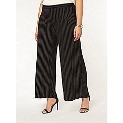 Evans - Monochrome striped palazzo trouser