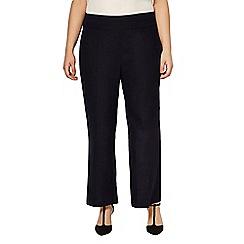 Evans - Navy linen trouser