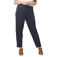 Evans - Navy blue tapered leg trousers
