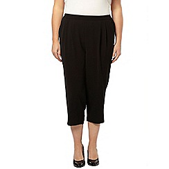 Evans - Black cropped trousers