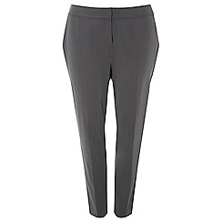 Evans - Grey tapered leg trousers