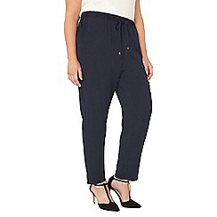 Evans - Collection navy blue tapered trousers