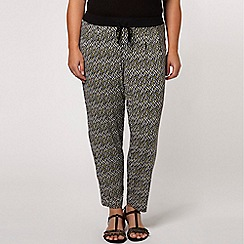 Evans - Yellow printed trousers