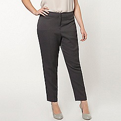 Evans - Grey textured tapered trousers