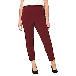Evans - Red tapered trousers