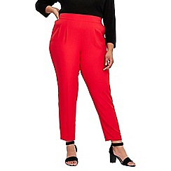 Evans - Red soft tapered trousers