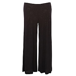 Evans - Black glitter wide leg trouser