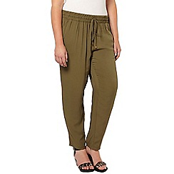 Evans - Khaki spun tapered trousers