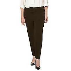 Evans - Khaki green tapered trousers