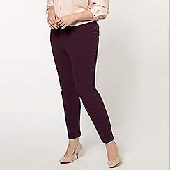 Evans - Plum tapered trousers