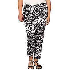 Evans - Animal printed tapered trouser