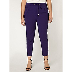 Evans - Purple tapered trousers