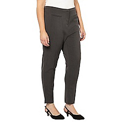Evans - Grey tapered trousers
