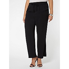 Evans - Black wide leg trousers
