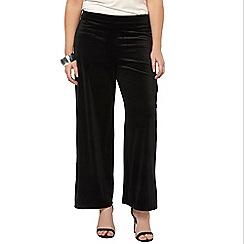 Evans - Black wide leg trousers