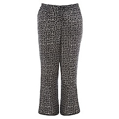 Evans - Black and white print wide leg trousers