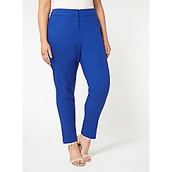 Evans - Blue linen blend tapered trousers