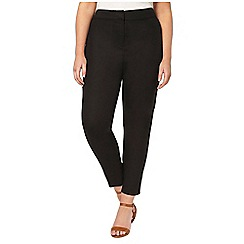 Evans - Black linen blend tapered trousers