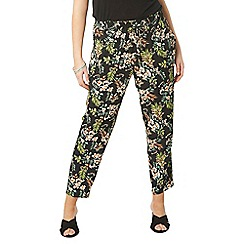 Evans - Green collection tropical print trousers