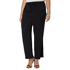 Evans - Black pear fit palazzo trousers