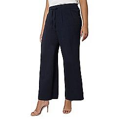 Evans - Navy blue pear fit wide leg trousers