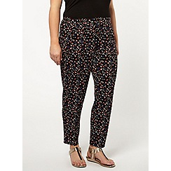 Evans - Printed jersey tapered trousers